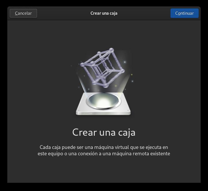 Cajas: crear caja